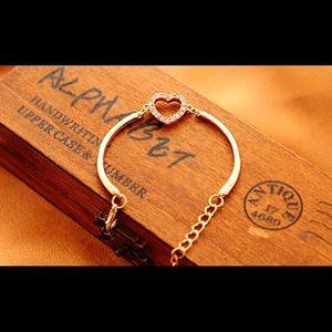 Gold Filled CZ Heart Bracelet